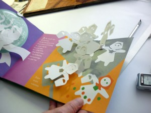 "Bruce Foster shows off Robert Sabuda's seminal pop-up book ""The 12 Days of Christmas"""