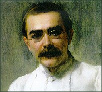 Painting of Rudyard Kipling