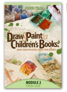 Make Your Splashes - Make Your Marks! Online course on children's book illustration