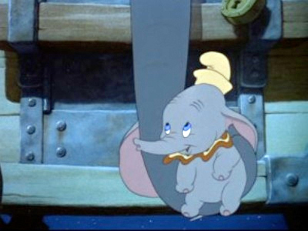 "Illustration from ""Dumbo"" Disney's 1941 animated film"
